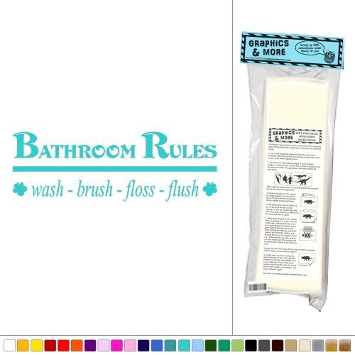 Graphics More Bathroom Rules Turquoise