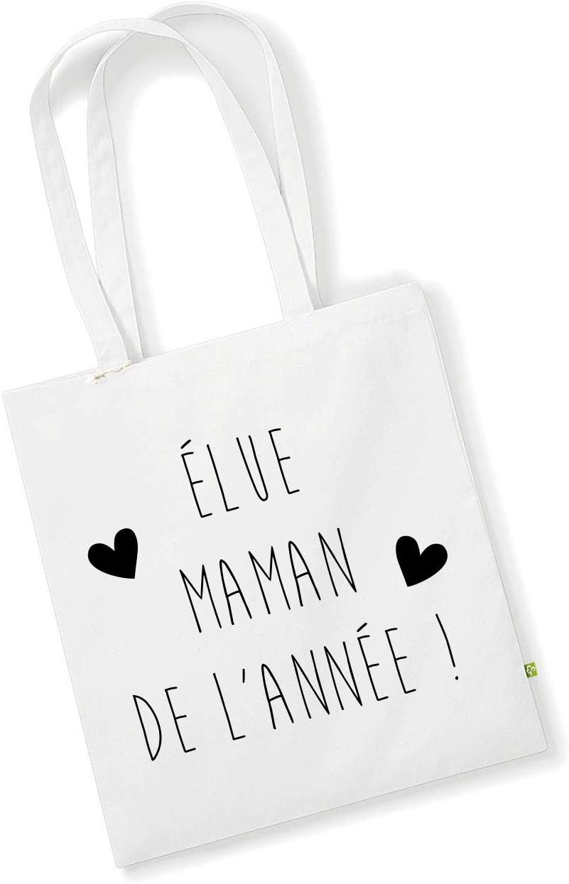 Tote Bag - Bolsa de la Compra para mamá del año con Corazones ...