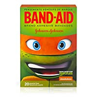 Band-Aid Brand Adhesive Bandages Featuring Teenage Mutant Ninja Turtles For Kids, Assorted Sizes, 20 Count (Pack of 6)