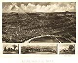 MAP AERIAL BIRDS EYE VIEW CONCORD NEW HAMPSHIRE 1899 ART PRINT POSTER LF2547 offers