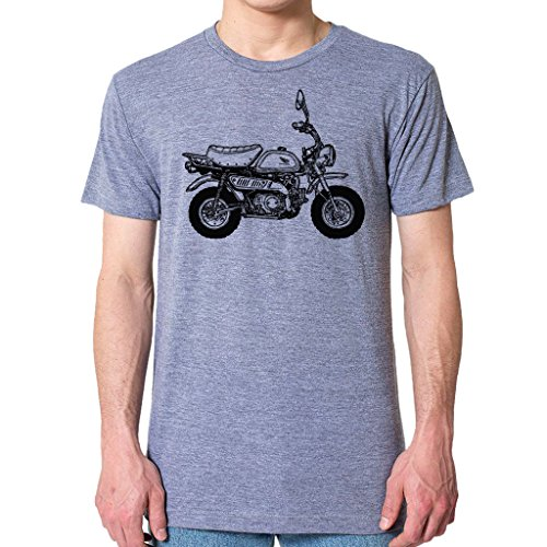 Honda Motorcycle Shirts (GarageProject101 Honda Monkey Motorcycle T-Shirt XL Athletic Gray)