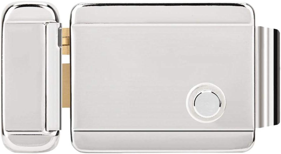 Cerradura eléctrica de Seguridad,Control eléctrico cerradura de puerta 3 modo desbloqueo cilindro único sistema de control acceso de la puerta control eléctrico