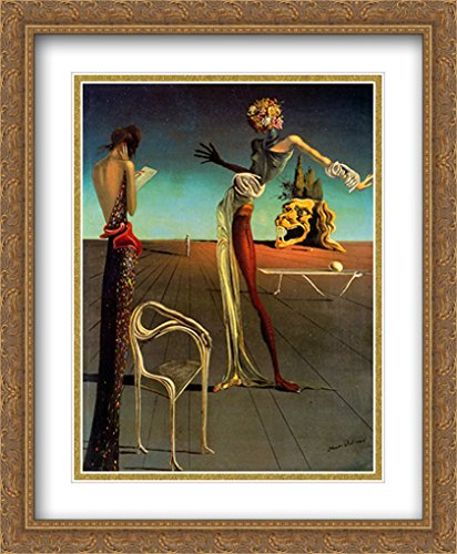 Salvador Dali 2x Matted 28x34 Gold Ornate Large Framed Art Print 'Head of Roses' by ArtDirect