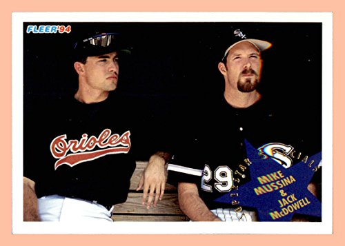 (1994 Fleer #708 Mike Mussina ORIOLES Jack McDowell CHICAGO WHITE SOX )