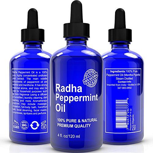 Meilleur huile de menthe poivrée - Big 4 Oz - 100% Pure & Natural thérapeutique année Huile Essentielle fabriqué à partir de Mentha Piperita - Grande pour l'aromathérapie et de multiples usages domestiques