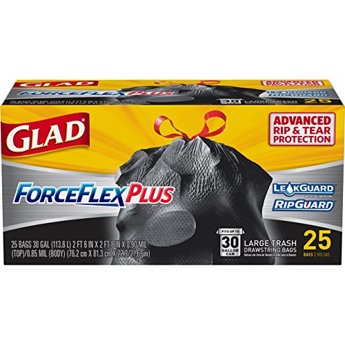 Glad Large Drawstring Trash Bags - ForceFlexPlus 30