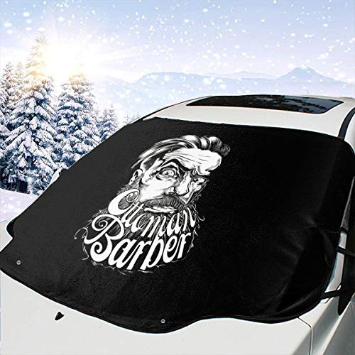HFSST Mens Hairstyles Barber Cool Themed Pattern Front Windows Cover Windshield Sun Shade Car Decor Sunshade Accessories Auto Outdoor Exterior Ornament Visor Kit for Women Men