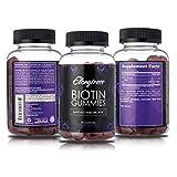 Biotin gummies 5000mcg per serving – 90 gummies per bottle – Biotin helps hair growth – Grow longer hair with biotin vitamins by Elongtress For Sale