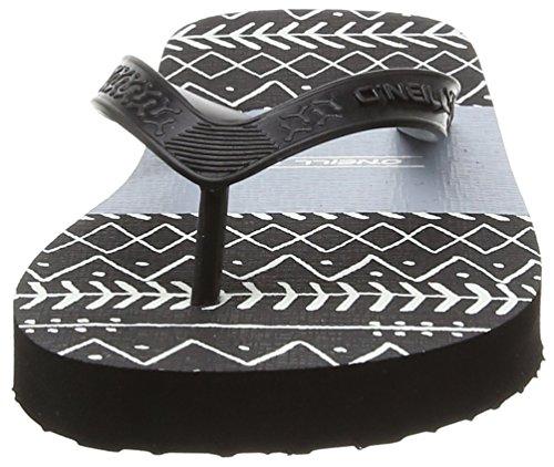 O'Neill Profile Pattern Flip Flop - Chanclas Niños Negro - Noir (9930 Black Aop)