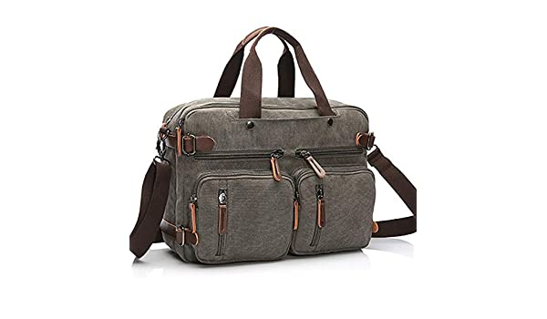 Amazon.com: Canvas Travel Backpack Men Shoulder Bag Mochila Hombre,Grey,Large: Shoes