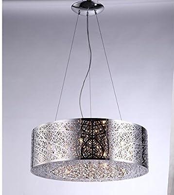 "9 Light Drum Shade Bird Nest Chandelier Pendant Ceiling Lamp Dia 24"""