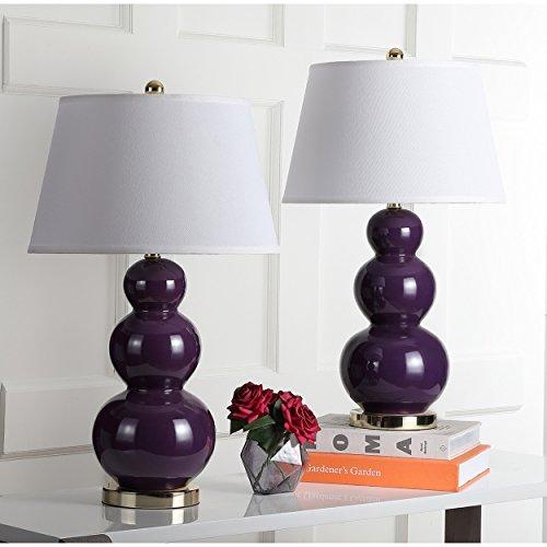 Safavieh Pamela Triple Gourd Lamp, Set of 2 (Lamp Gourd Triple)