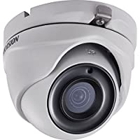 Hikvision DS-2CE56F7T-ITM-3.6MM Outdoor Turret Camera, 3MP, HD-TVI, New EXIR, 3.6 mm Fixed Lens, Up to 20m IR Distance