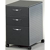 Mayline 3 Drawer Pedestal File W/Wheels Two Box Drawers & One File Drawer 15W X 22D X 27 1/2H - Anthracite