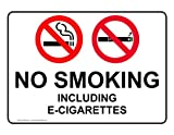 ComplianceSigns Vinyl Smoking Area Label, 7 x 5 in. with English, White