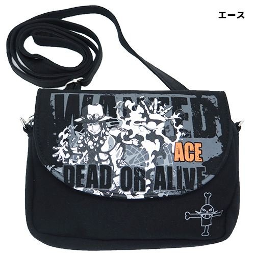 One Piece mini borsa a tracolla nero/Ace