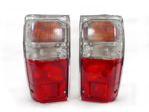 DEPO 1984-1988 Toyota Pick Up Truck 2wd/4wd Model Red/Clear Tail Light ()