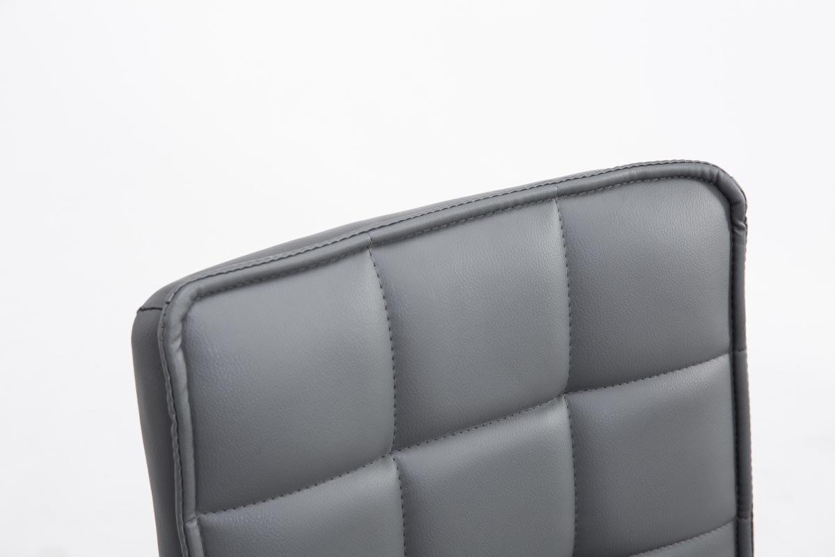 CLP Sedie Design Peking V2 in Similpelle Sedia Sala da Pranzo Altezza Regolabile 41-55 cm I Sedia Imbottita Girevole Schienale Alto e Senza Braccioli I Sedia Poltrona Bianco