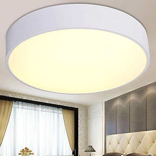 Moderne LED-Deckenleuchte Einfache kreative Wohnzimmer Beleuchtung Schlafzimmer Restaurant Studie Balkon Eingang Küche und Wc Lichter, Weiß 30 cm - Led Tageslicht 12W