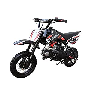 Coolster Kids Mini Dirt Bike 70cc Youth Gas Pit Bike Semi-Automatic 4-Speed CRF50 Style (Black)