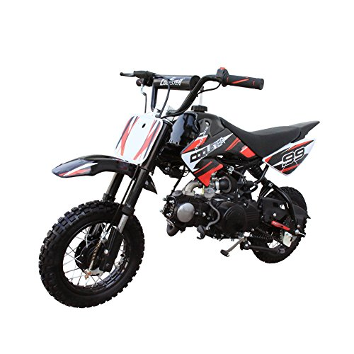 Coolster Kids Mini Dirt Bike 70cc Youth Gas Pit Bike Semi-Automatic 4-Speed CRF50 Style ()