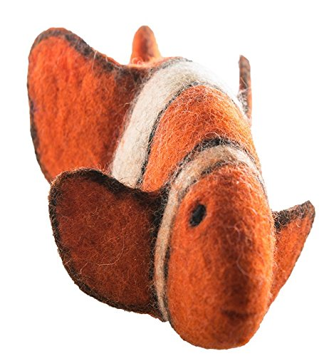 Le Sharma Eco-Fish Handmade Play Toy for Dogs and Puppies, 100% Felted Wool. Large Size 10