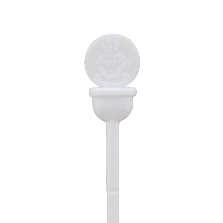 StixToGo Orange Stir N Plug Stix for Disposable Lids Package of 200