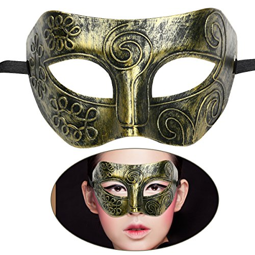Tinksky Masquerade Mask Adult Greek Roman Fighter Masquerade for Fancy Dress Ball Masked Ball Halloween (Adult Simple Halloween Costumes)