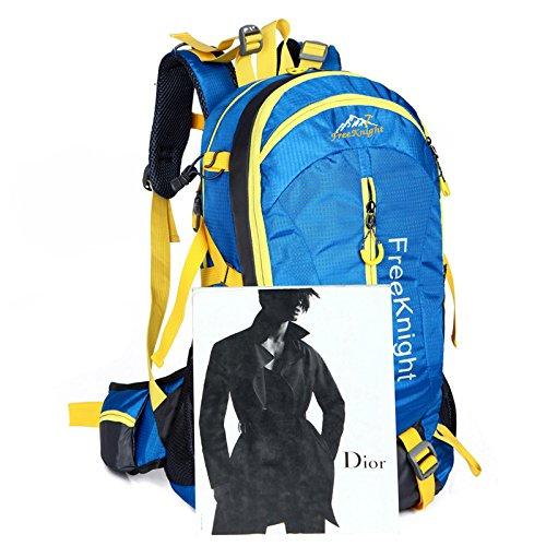 Mountaineering Bag Outdoor Männer und Frauen Schulter Rucksack nylon Wanderpackage wasserdichte Multifunktion Bergsteigen Taschen , grün