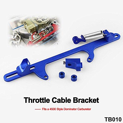 Ruien Billet Aluminum Throttle Cable Bracket for 4500 Style Series Carburetor Blue