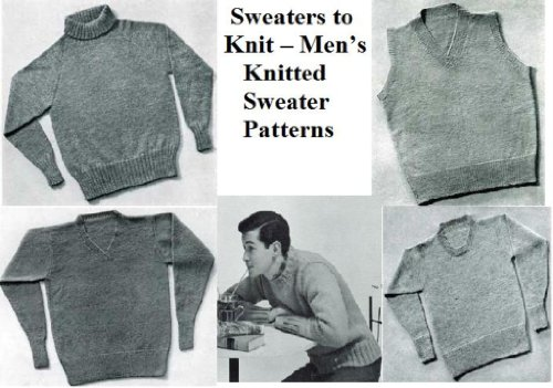 Amazon Sweaters To Knit Mens Knitted Sweater Patterns Ebook