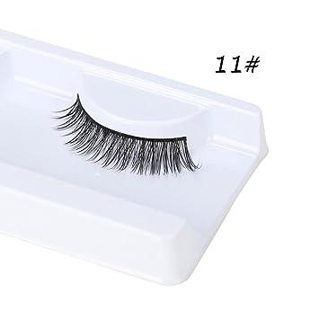 de7c53ecd6f Amazon.com : Eyelashes, False eyelashes, Yezijin 3D Natural Thick False  Fake Eyelashes Eye Lashes Makeup Extension (G) : Beauty