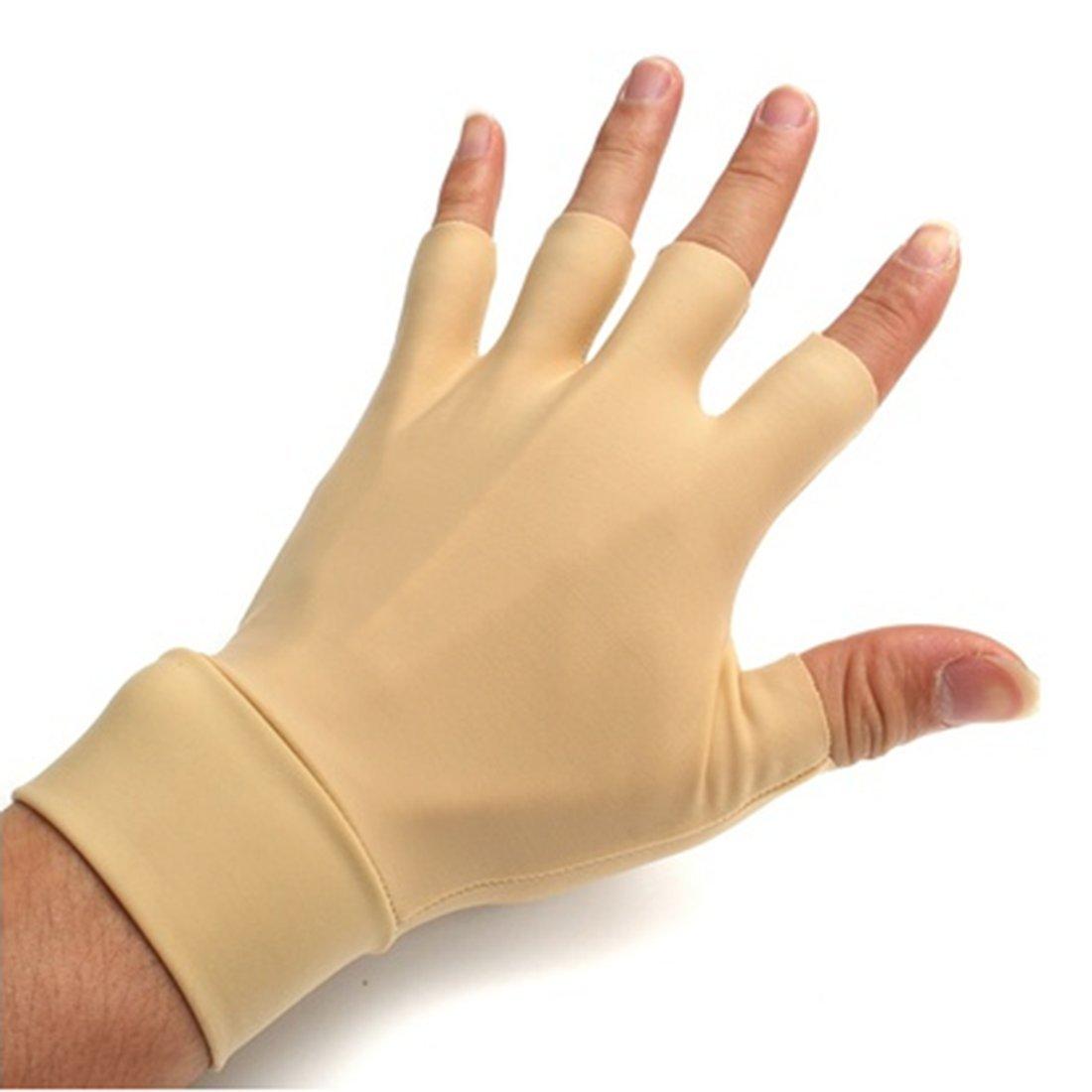 Arthritis Compression Gloves for Rheumatoid & Osteoarthritis - Sanbo Hand Gloves Provide Arthritic Joint Pain Symptom Relief - Men & Women - Fingerless