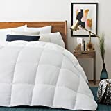 Alternative Comforter - LUCID Down Alternative Comforter - Hypoallergenic - All Season - 400 GSM - Ultra Soft and Cozy - 8 Duvet Loops - Box Stitched - 3 Year Warranty - Machine Washable - Full - White