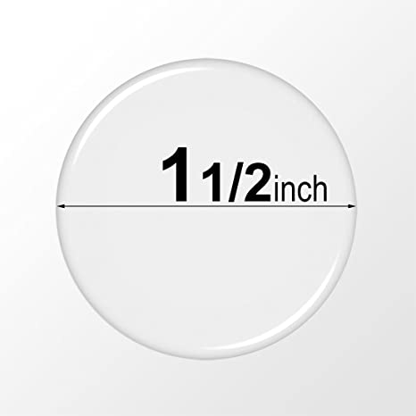 38.1mm FREE SHIPPING 1 1//2 inch - Circle Domes Round Clear Epoxy Stickers