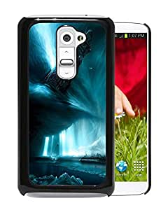 New Custom Designed Cover Case For LG G2 With Tower Being Destroyed Fantasy Mobile Wallpaper Phone Case