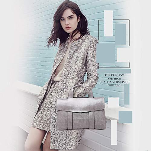 da Crocodile tracolla mano Nicole a Borse donna Grey Borse Doris Elegant Lady Khaki Borse Design a EFEawqSP