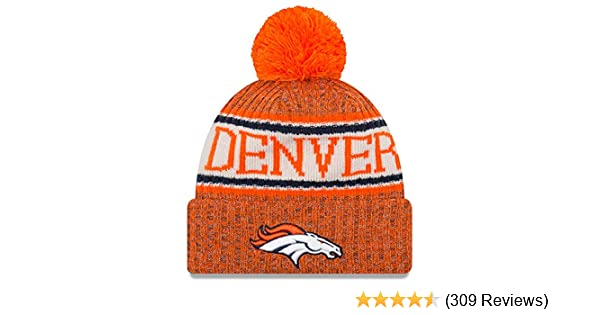 4a046fdcc Amazon.com   New Era Knit Denver Broncos Biggest Fan Redux Sport Knit  Winter Stocking Beanie Pom Hat Cap NFL   Sports   Outdoors