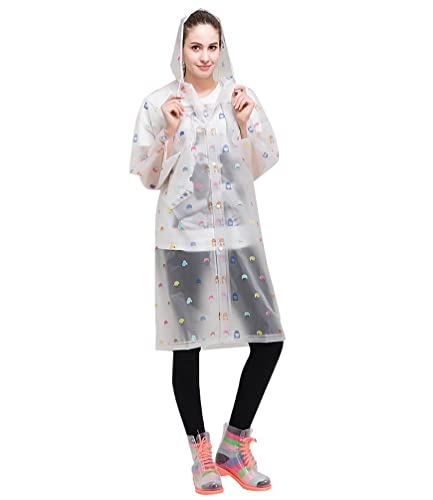 LvRao Mujer vistoso impresión capa para lluvia impermeable de poncho con capucha excursionismo # Cab...