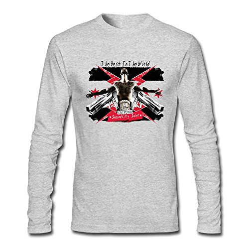 Wwe M Punk Costumes - Seico Mens Cm Punk Wrestler Tshirts HeatherGray Size M