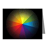 Note Cards (10 Pack) Artist Rainbow Color Wheel