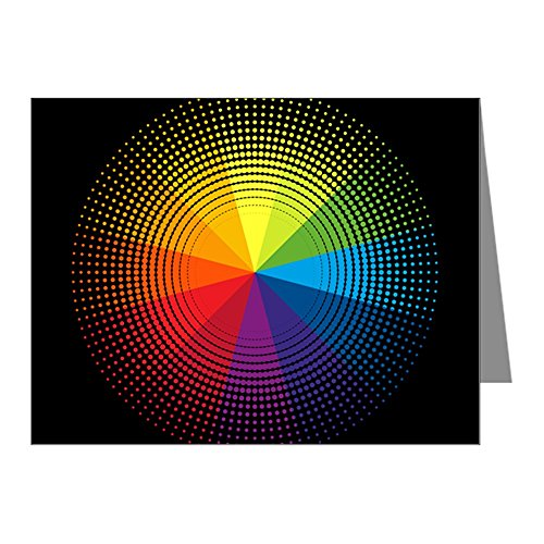 Note Cards (10 Pack) Artist Rainbow Color Wheel by Royal Lion