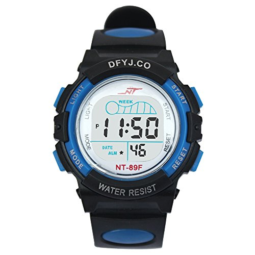 A1055 Alike Brand Fashion Sports Digital Quartz Watch Electronic Watch Backlight Silicon30m Waterproof Wristwatches (Green)