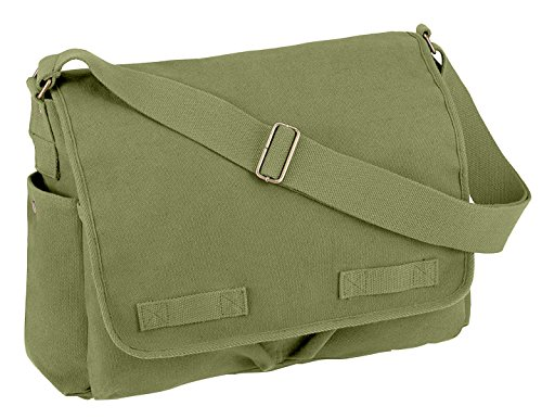 Rothco Hw Canvas Classic Messenger Bag, Olive (Classic Messenger Bag)