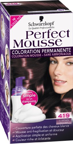 schwarzkopf perfect mousse coloration permanente chtain violine 419 amazonfr hygine et soins du corps - Coloration Violine