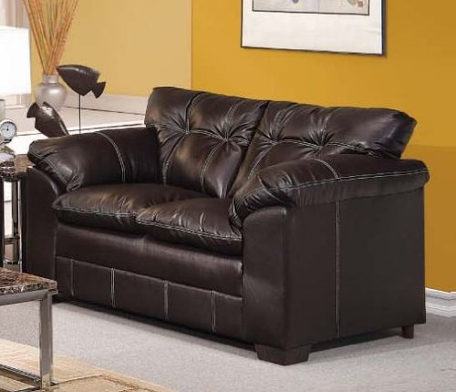 ACME 50351 Hayley Loveseat with Premier Onyx Bonded Leather