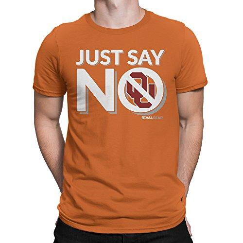 Rival Gear Texas Longhorns Fan T-Shirt, Just Say No (XL)