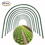 Asunflower Plant Support Garden Stakes, 10 Pack Greenhouse Hoops Frame Tunnel Support for Garden Fabric, 18.5'' by 19.6'' Per Hoops