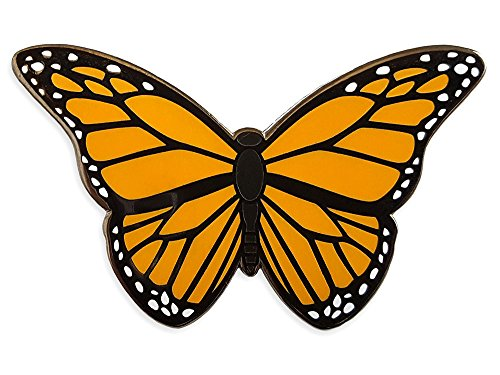 (Pinsanity Monarch Butterfly Enamel Lapel)