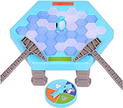 Puzzle creativo Juego de Mesa Guardar rompehielos golpe del pingüino del juguete del golpe del cubo de hielo de juguete niños juguete del padre-juego interactivo del niño 1Ponga tipo fino pingüino: Amazon.es: